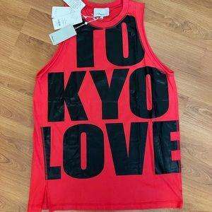 BNWT PHILLIP LIM XS sleeveless TOKYO LOVE in red